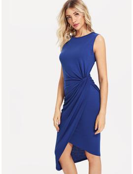 Draped Side Wrap Dress by Shein