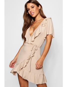 Petite Wrap Tea Dress by Boohoo