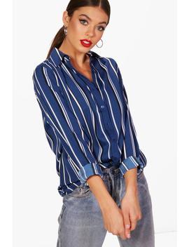Oversized Stripe Shirt by Boohoo