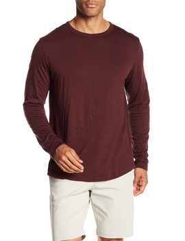 Double Long Sleeve Alpaca Blend Tee by Theory