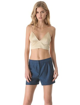 Silk Triangle Bralette by T By Alexander Wang