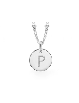 Silver 'p' Initial Necklace by Missoma