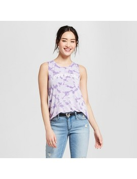Women's Good Vibes Cloud Wash Graphic Sleeveless Tank Top   Grayson Threads (Juniors') Purple by Shop All Grayson Threads
