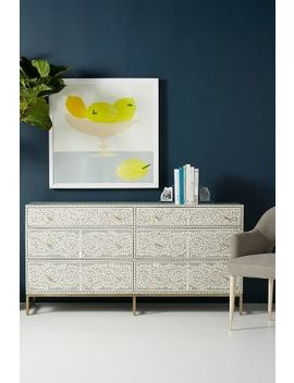Scroll Vine Inlay Six Drawer Dresser by Anthropologie