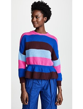 Cinched Waist Sweater by Red Valentino