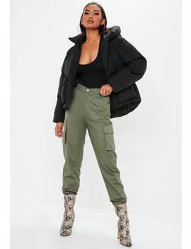 Black Hooded Ultimate Puffer Jacket by Missguided