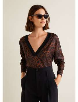 Leopard Print T Shirt by Mango