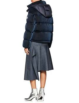 Caille Metallic Puffer Coat by Moncler