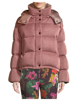 Caille Metallic Puffer Coat W/ Removable Hood by Moncler