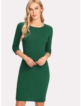 Solid Bodycon Dress by Sheinside