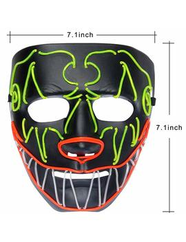 You Look Ugly Today Mens Led Light Up Mask Full Face Halloween Party by You Look Ugly Today
