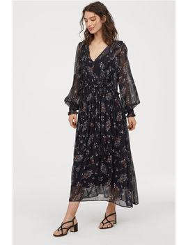 Wzorzysta Sukienka Z Falbanami by H&M