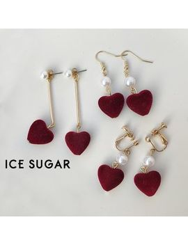 Heart Drop Earring by Ice Sugar