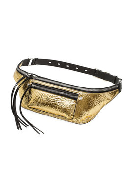 Elliot Metallic Leather Fanny Pack/Belt Bag by Rag & Bone