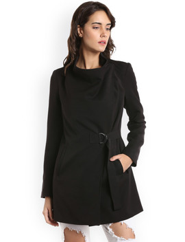 Vero Moda Women Black Solid Tailored Jacket by Vero Moda