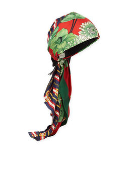 Gg Belts & Spring Bouquet Printed Silk Twill Turban by Gucci