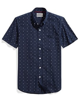 Goodthreads Men's Slim Fit Short Sleeve Printed Shirt by Goodthreads