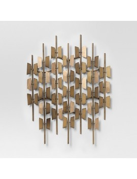 Gold Decorative Wall Sculpture 16.5 X 24   Project 62™ by Shop Collections