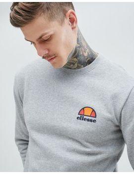Ellesse – Graues Sweatshirt Mit Kleinem Logo by Ellesse