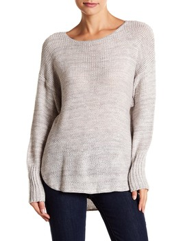 Twist Shirt Tail Pullover Sweater by Susina
