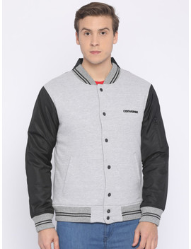 Converse Men Grey Bomber Jacket by Converse