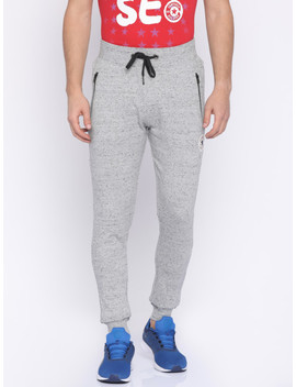 Converse Men Grey Solid Joggers by Converse