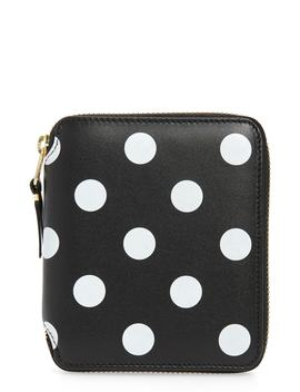 Dots Printed Leather Line Wallet by Comme Des GarÇons