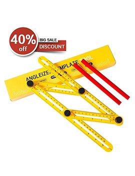 Agoo Angle Ruler, Angle Finder, Template Tool & Layout Tool, Multi Angle Measuring Ruler Measuring All Angles And Forms by Agoo