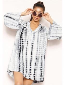 Bria Tie Dye Shirt Dress by Missy Empire