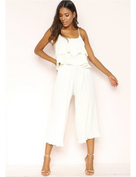 Una Cream Pleated Co Ord Set by Missy Empire