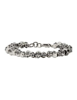 Silver Mini Skulls Bracelet by Luka Sabbat X Monini