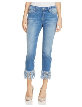 Kerry Fringed Ankle Jeans In Vintage by Mavi