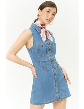 Denim Button Dress by Forever 21