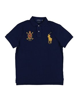 Polo Ralph Lauren Mens Custom Slim Fit Big Pony Crest Polo Shirt by Polo Ralph Lauren