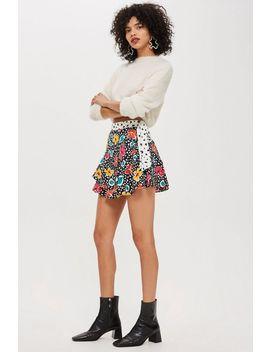 Petite Floral Pleat Mini Skirt by Topshop