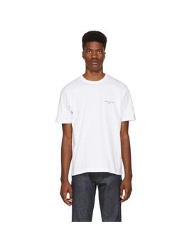 White Logo T Shirt by Comme Des GarÇons Homme