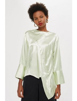 Satin Asymmetric Tunic by Topshop