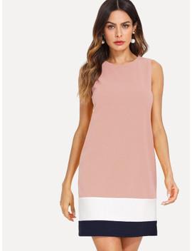 Kleid Mit Farbblock by Shein
