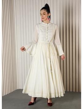White Embellished Anarkali by Ritu Kumar
