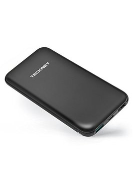 Tecknet Power Bank 10000m Ah Usb C, Smallest And Lightest Powerbank, External Battery Usb & Type C Output (3.0 A), Dual Input Port (2.6 A) Portable Charger With Bluetek Smart Charging Technology For I Phone, I Pad, Mac, Samsung, Nexus And More. by Teck Net