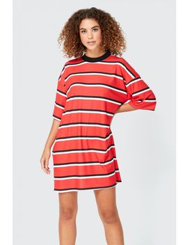 Stripe Oversized T Shirt Dress by Select