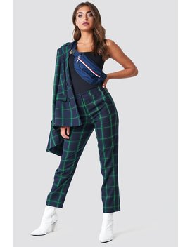 Straight Checkered Suit Pants by Na Kd