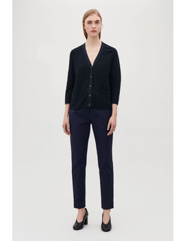 A Line Cotton Knitted Cardigan by Cos