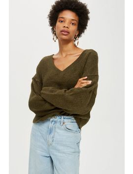 Super Soft V Neck Jumper by Topshop