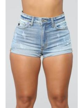 Ride Around Town With Me Denim Shorts   Light Blue Wash by Fashion Nova