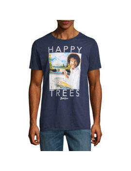 Bob Ross Happy Tree Graphic Tee by Novelty T Shirts