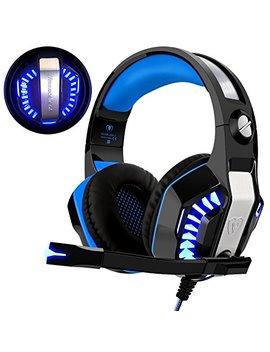 Gaming Headset Für Ps4 Xbox One Pc, Beexcellent Professional Deep Bass Kopfhörer Mit Mikrofon Led Licht Für Laptop Mac Handy Tablet by Amazon