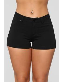 Riley Shorts   Black by Fashion Nova