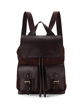 Shadow Nubuck And Leather Rucksack by Aspinal Of London