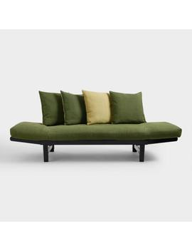 Green And Yellow Studio Day Sofa Slipcover by World Market